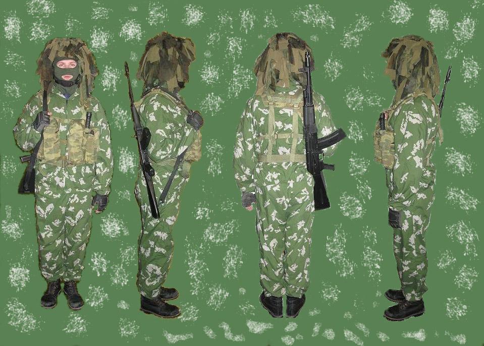 Камуфляж и снаряжение одежда для